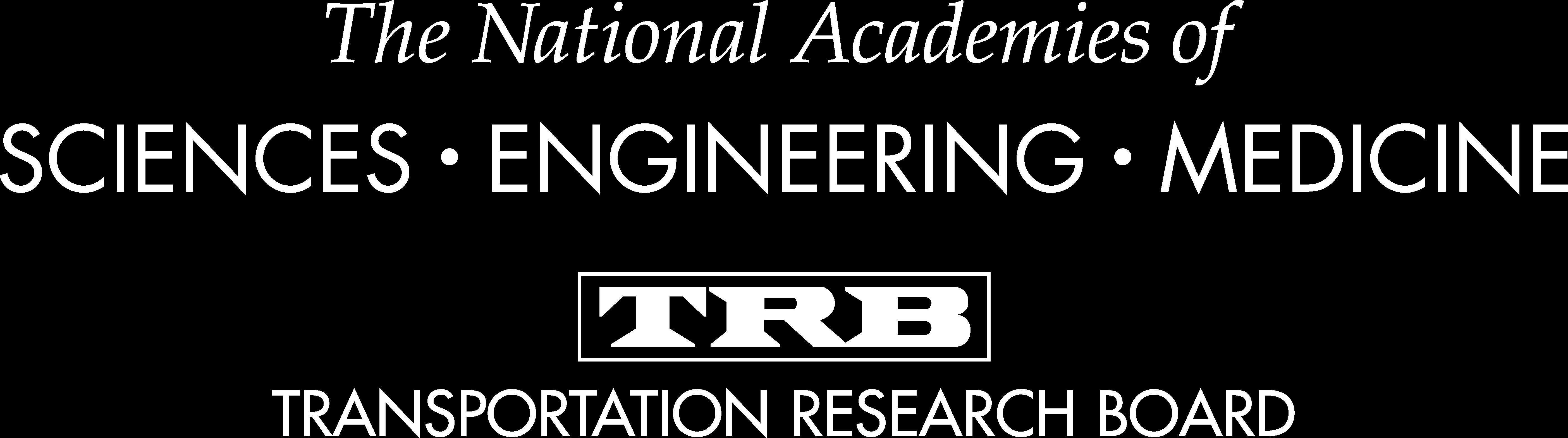 NASEM TRB Logo White